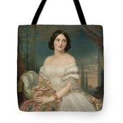 Portrait Of A Lady Sitting Under A Pergola Tote Bag