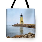 Portrait Of A Lighthouse Tote Bag