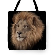 Portrait Of A Lion Tote Bag