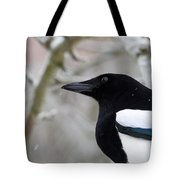 Portrait Of A Magpie Tote Bag