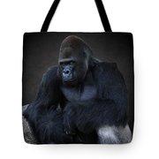 Portrait Of A Male Gorilla Tote Bag