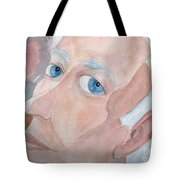 Portrait Of A Poet Tote Bag by Fred Jinkins