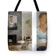 Portrait Of A Readin Girl Tote Bag