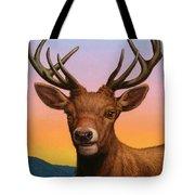 Portrait Of A Red Deer Tote Bag
