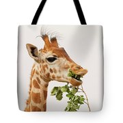 Portrait Of A Rothschild Giraffe IIi Tote Bag