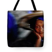 Portrait Of A Senior Lady In Yun Nan, China Tote Bag