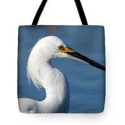 Portrait Of A Snowy Egret Tote Bag