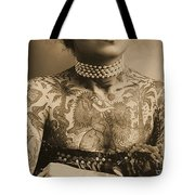 Portrait Of A Tattooed Woman Tote Bag