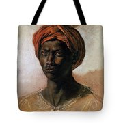 Portrait Of A Turk In A Turban Tote Bag by Ferdinand Victor Eugene Delacroix