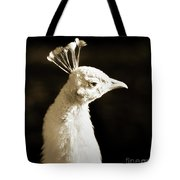 Portrait Of A White Peacock Tote Bag