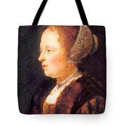 Portrait Of A Woman 1640 Tote Bag