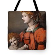 Portrait Of A Woman And Child - Allegory Of Liberality Tote Bag