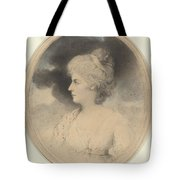 Portrait Of A Woman In Profile Tote Bag