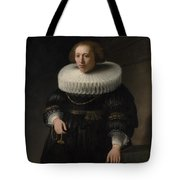 Portrait Of A Woman Probably A Member Of The Van Beresteyn Family Tote Bag