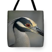 Portrait Of A Yellow Crowned Heron Tote Bag
