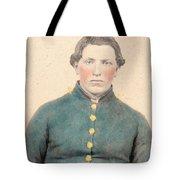 Portrait Of A Young  Civil War Soldier 3 Tote Bag