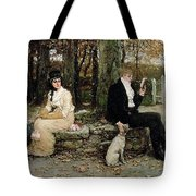 Portrait Of A Young Girl Adolphe William Bouguereau Tote Bag