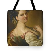 Portrait Of A Young Girl As A Shepherdess Tote Bag