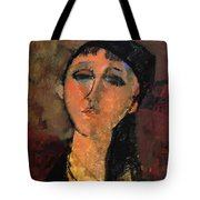 Portrait Of A Young Girl Louise 1915 Tote Bag