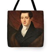 Portrait Of A Young Man In Front Tote Bag