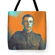 Portrait Of A Young  Wwi Soldier Series 6 Tote Bag
