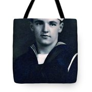 Portrait Of A Young  Wwi Soldier Series 8 Tote Bag