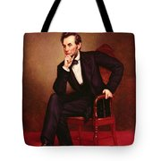 Portrait Of Abraham Lincoln Tote Bag