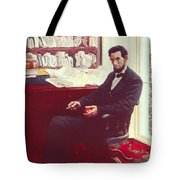 Portrait Of Abraham Lincoln Tote Bag