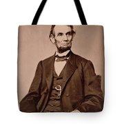 Portrait Of Abraham Lincoln Tote Bag by Mathew Brady