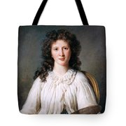 Portrait Of Adelaide Binart Tote Bag