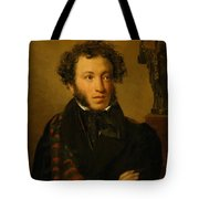 Portrait Of Alexander Pushkin 1827 Tote Bag