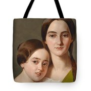 Portrait Of Alexandrine Pazzani And Her Cousin Caroline Von Saar According To Family Tradition Tote Bag
