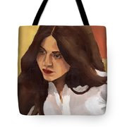 Portrait Of Amelia Tote Bag