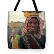 Portrait Of An Indian Lady Tote Bag