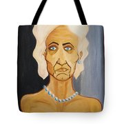 Portrait Of An Old Woman Tote Bag