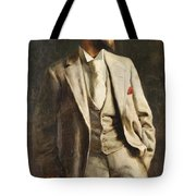 Portrait Of An Unknown Man By Constantine Gorski, 1896. Tote Bag