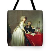 Portrait Of Antoine-laurent Lavoisier And His Wife Tote Bag
