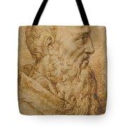 Portrait Of Baccio Bandinelli In Profile To The Right Tote Bag