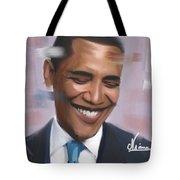 Portrait Of Barack Obama Tote Bag