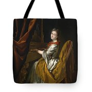 Portrait Of Barbara Janssens At The Organ Tote Bag