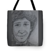 Portrait Of Barry Manilow 3 Tote Bag