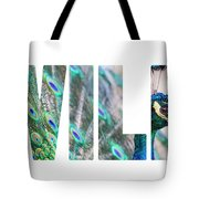 Portrait Of Beautiful Peacock With Open Tail Tote Bag