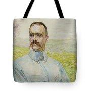 Portrait Of Brigadier Jozef Pilsudski Tote Bag