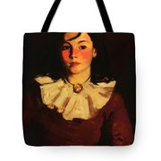 Portrait Of Cara In A Red Dress Tote Bag