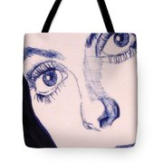 Portrait Of Catherine Close Up Details Tote Bag