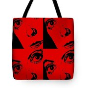 Portrait Of Catherine Pop Art Design Tote Bag