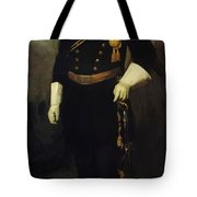 Portrait Of Colonel David Perry 9th U Cavalry 1907 Tote Bag