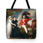 Portrait Of Colonel Fitch And His Sisters Tote Bag