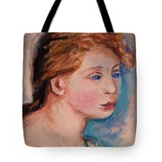 Portrait Of  Country Girl Tote Bag