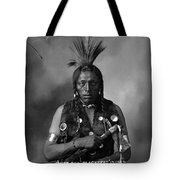 Portrait Of Cree Indian Tote Bag